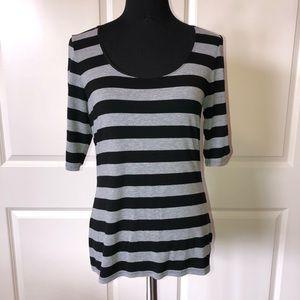 White House Black Market Striped Knit Top